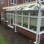 Standalone Framework was fabricated in order to install an awning in front of this conservatory