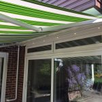 This awning fits snuggly into the area to give the best coverage possible for the customer.