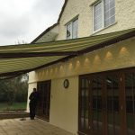 LED light bar is available with most of our patio awning range.