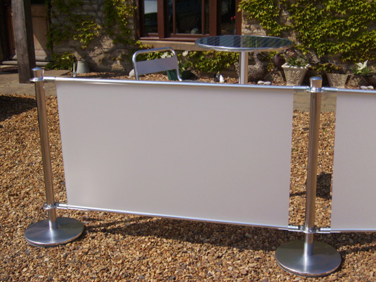 portable fabric cafe barrier